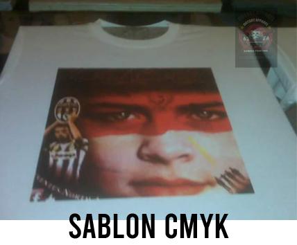Sablon Kaos Design CMYK Di Kain Putih